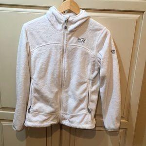 Mountain HardWear fleece hoodie jacket s white